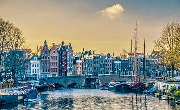 Kanalhäuser im Zentrum von Amsterdam von Rietje Bulthuis
