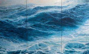Triptychon Windstärke 10 auf dem Ozean