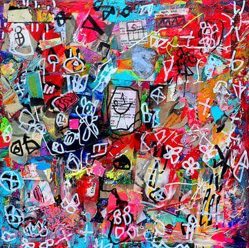 """Collage schilderij """"De kracht van je authentieke zelf"""" van Ina Wuite"""