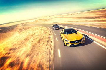 Mercedes-Benz AMG GT-S vs. Porsche 911 Turbo S sur Sytse Dijkstra