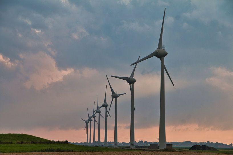 Windmolens in de Wieringerwaard van Annie Postma