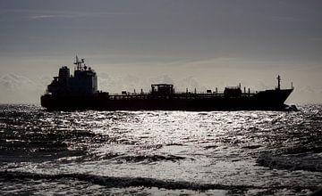Vrachtschip Zoutelande van MSP Canvas