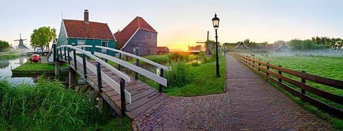 Panorama brug en pad Zaanse Schans