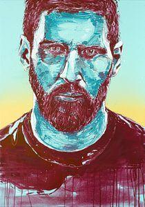 Lionel Messi, (FC Barcalona) schilderij