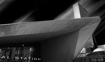 Delfste Poort und Hauptbahnhof Rotterdam von Martin van Lochem