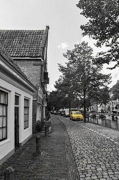 Schwarz-Weiß und Gelb / Schwarz &Ampel; Weiß + Gelb von Henk de Boer