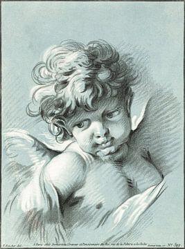 Putto, engeltje, Gilles Demarteau (ca. 1756–1776) van Atelier Liesjes