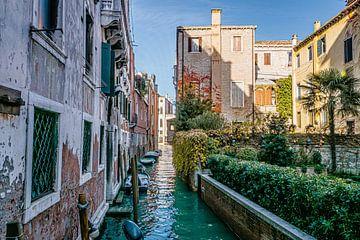 Prachtig licht in karakteristiek kanaal van Venetië van Mischa Corsius