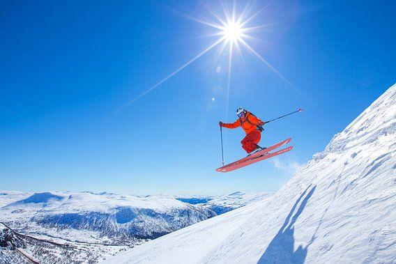 Ski Myrkdalen Noorwegen van Menno Boermans