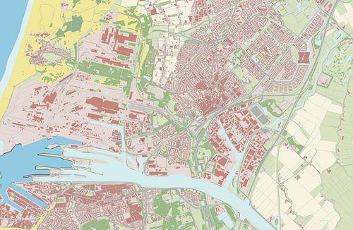 Kaart vanBeverwijk van Rebel Ontwerp