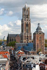 Domtoren, Buurkerk en de Steenweg. van