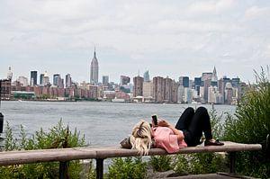 Lazy New York Skyline van Jacintha Van beveren