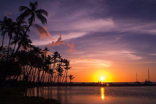 Zonsondergang Hawaii van
