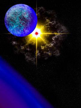 Nachtzicht van een supernova van Keep Magic