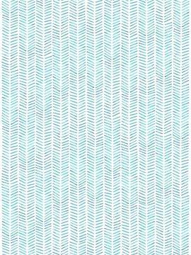 "Visgraat behang ""Zee'' 50% van Natalie Bruns"