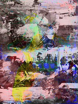 """Zeitgenössisches, modernes und abstraktes Werk """"Feeling"""" von The Art Kroep"""