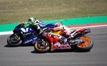 Valentino Rossi und Marc Marquez im Kampf TT Assen von Marcel Hollander