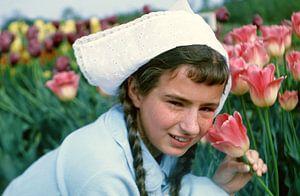 Bloemen meisje 60s van