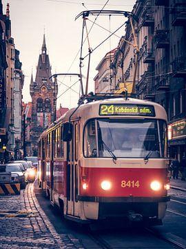 Prag - Strassenbahn / Heinrichsturm von Alexander Voss