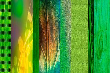 verticaal groen, patroon van Rietje Bulthuis
