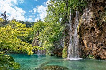 Plitvice Lakes nationaal park in centrum van Kroatie van Joost Adriaanse