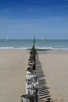 uitzicht vanaf de strandpalen von Jolanda Kraus