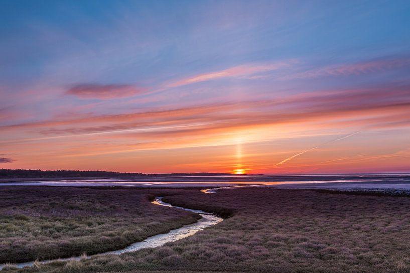 Sonnenaufgang über Vlieland von Joop Gerretse