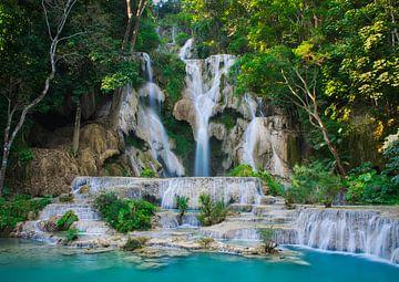 Cascade de Kuang Si au Laos sur Bart Nikkels
