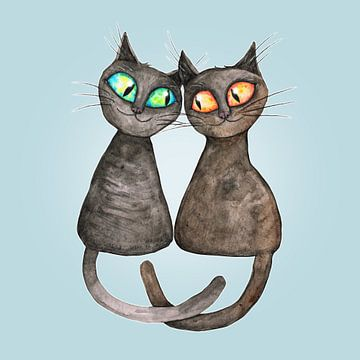 Liebevollen Katzen. von Bianca Wisseloo