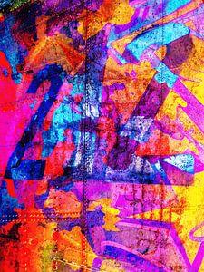Modern, Abstract Digitaal Kunstwerk – Dreams Full Of Color Part 4