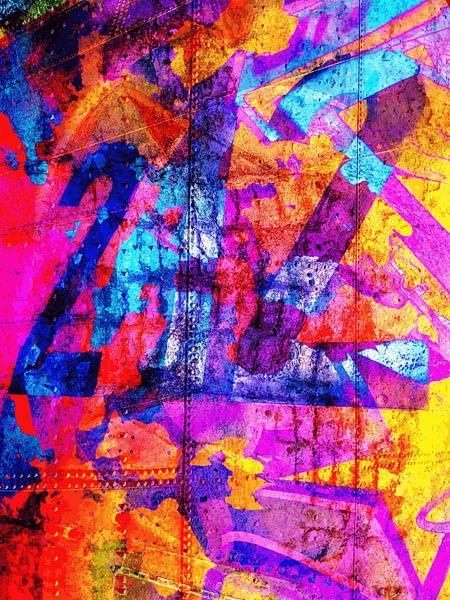 Modern, Abstract Digitaal Kunstwerk – Dreams Full Of Color Part 4 van Art By Dominic