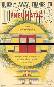 Plakat für Zugtüren, Laszlo Moholy-Nagy, 1937