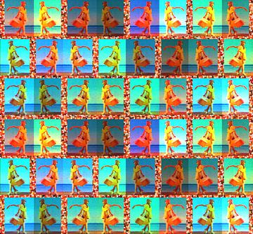 REFLET D'UNE VITRINE NICOISE van Marijke Mulder
