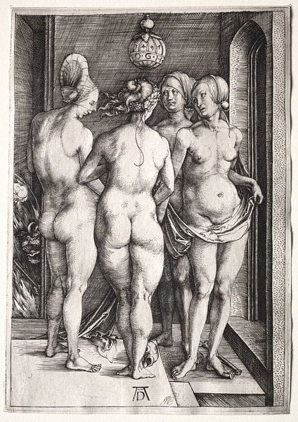 Die vier Hexen (vier nackte Frauen), Albrecht Dürer von De Canon