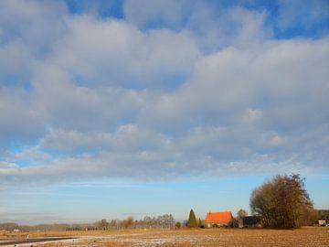 boerderij in een landschap van Joke te Grotenhuis
