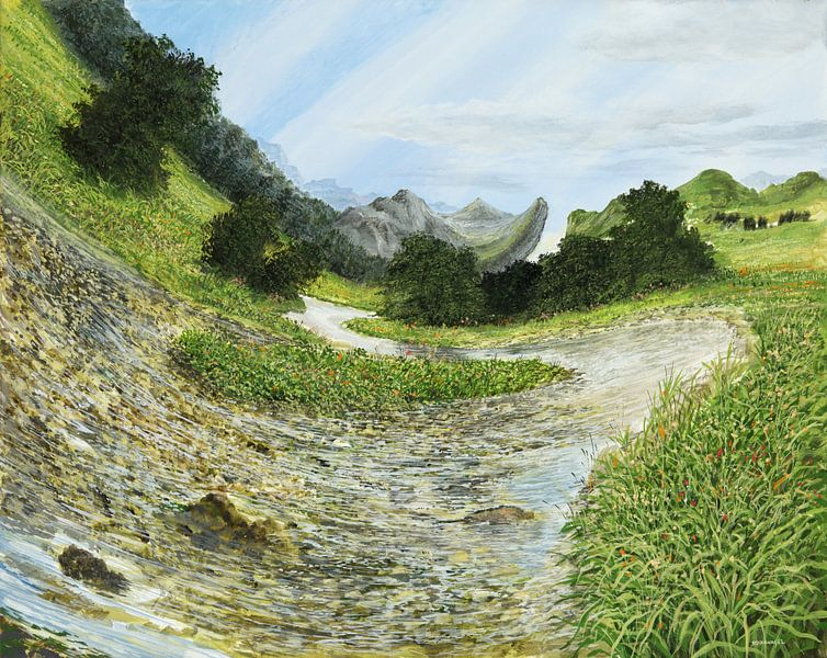 Ruisseau de montagne sur Art Demo