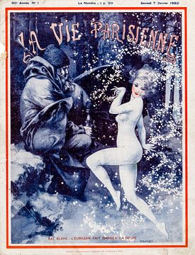 Art Deco tijdschrift omslag La Vie Parisienne, 7 Januari 1922 von Martin Stevens