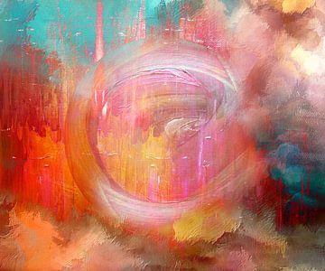 Center ~kleurrijk abstract van Jacky