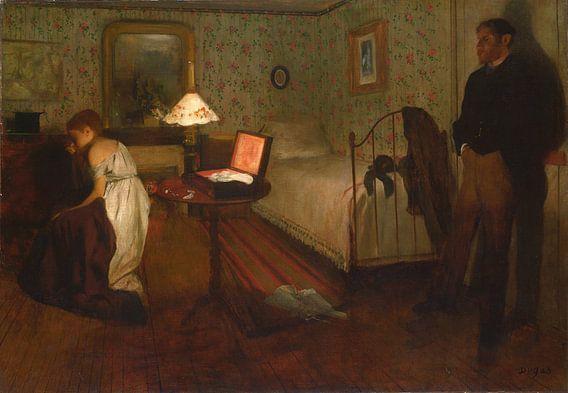 Interieur, Edgar Degas van Meesterlijcke Meesters