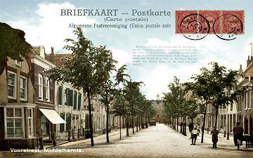 MIDDELHARNIS (Menheerse) Voorstraat The Netherlands van TOEN IN BEELD