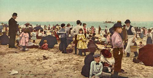 Op het strand bij Coney Island (kleur) van