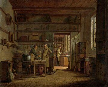 Das Innere des 'Stoockhuys' des Apothekers A d'Ailly, Johannes Jelgerhuis, 1818.