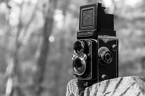 Yashica Mat middenformaat foto camera in zwart wit