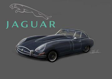 Jaguar E-type van Rakesh Soekhoe