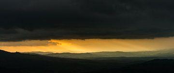 Storm over het Val d'Orcia - Pienza van