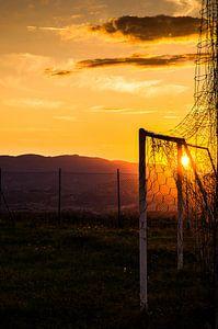 Sunset in het doel