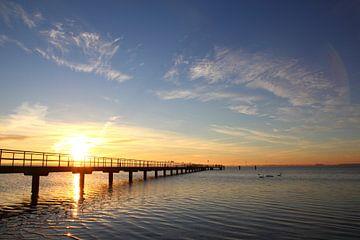 Morgens an der Brücke von Ostsee Bilder