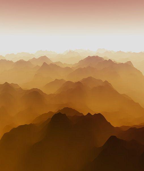 Bergachtig landschap 8 van Angel Estevez