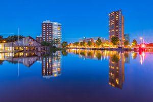 Blik vanaf de Sluiskade in Groningen