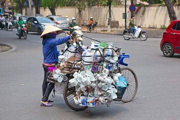Vervoer per fiets op Vietnamese wijze van t.ART